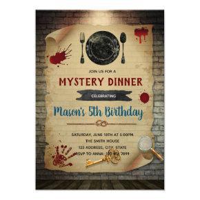 Murder Mystery Dinner Birthday invitation