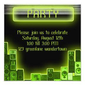 Music modern party invitation
