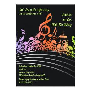 Music Notes Invitations