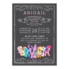 My Little Pony | Chalkboard Birthday Invitation