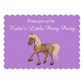 My Little Pony Lavender Custom Party Invitations