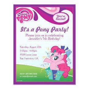 My Little Pony Pinkie Pie Birthday Party Card