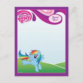 My Little Pony Rainbow Dash Thank You Note Invitations