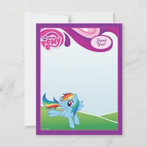 My Little Pony Rainbow Dash Thank You Note