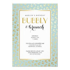 Nautical Golden Anchors Pattern Invitation