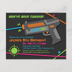 Neon Laser Tag Birthday Party