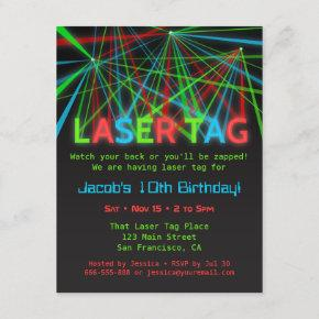 Neon Words Laser Tag Birthday Party