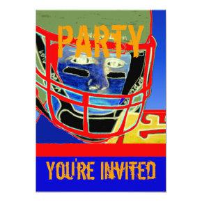 New Football Birthday Party Personalize Invitation