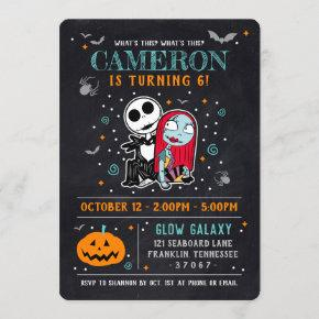 Nightmare Before Christmas Chalkboard Birthday Invitation