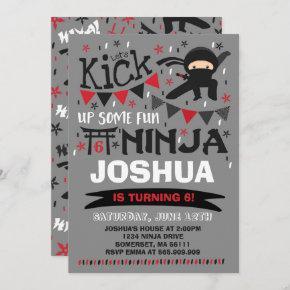Ninja Birthday Invitation Karate Birthday Party