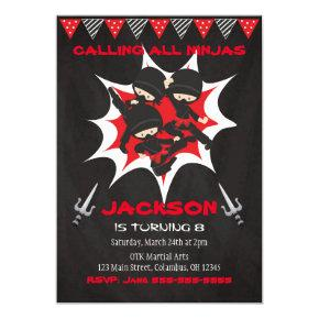 Ninja Birthday Invitation, Ninja Birthday Party Invitation