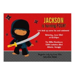 Ninja Birthday Party Card