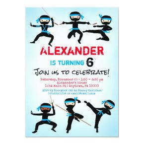 Ninja Invitations Ninja Boy Birthday Invite