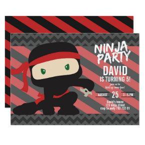 Ninja Party Boy Birthday Karate Invitation