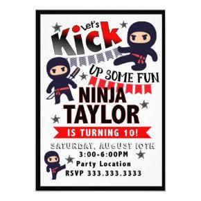 Ninja Party Invitation, Ninja Birthday Invitation