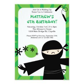 Ninja Power Green Invitation
