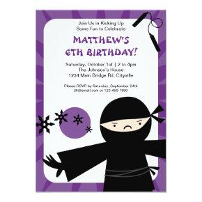Ninja Power Purple Invitation