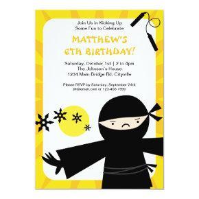 Ninja Power Yellow Invitation