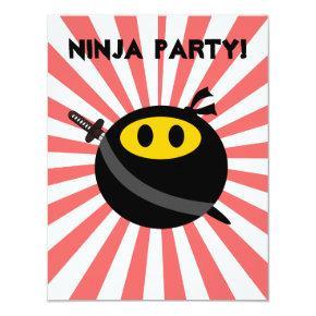 Ninja smiley face card