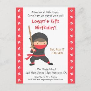 Ninja with Katana Kids Birthday Party