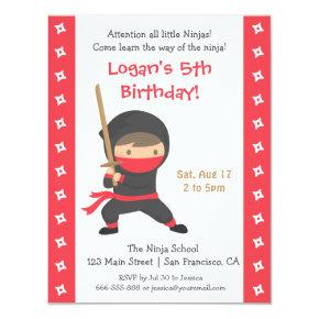 Ninja with Katana Kids Birthday Party