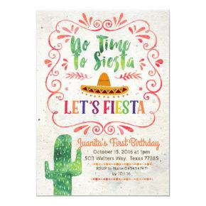 No Time to Siesta, Let's Fiesta Invitations