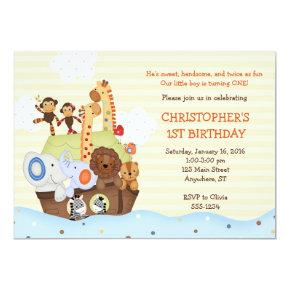 Religious birthday invitations candied clouds noahs ark birthday invitation w optional photo filmwisefo
