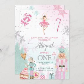 Nutcracker Birthday Girl Land of Sweets Fairy Invitation