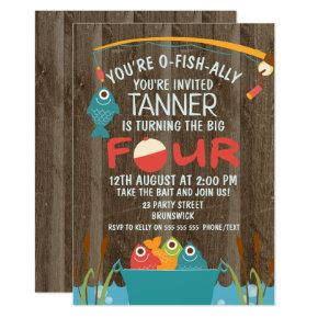 O-Fish-ally Four Fishing Birthday Invitation