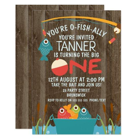 O Fish Ally One Fishing 1st Birthday Invitations Candied Clouds