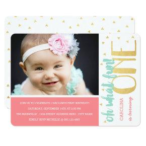 Oh What Fun 1st Birthday Photo Party Invite