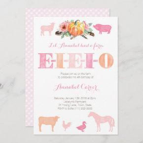 Old MacDonald EIEIO Farm Birthday Party Invitation