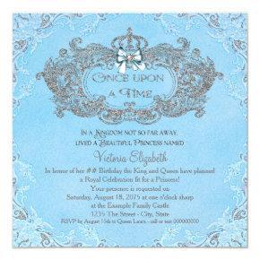 Once Upon a Time Cinderella Princess Birthday Invitations