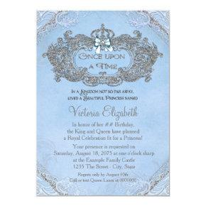 Once Upon a Time Princess Birthday Invitations