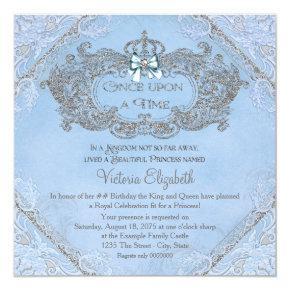 Once Upon a Time Princess Birthday Invitations
