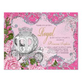 Girly 3rd party birthday invitations candied clouds once upon a time princess birthday party invitations filmwisefo