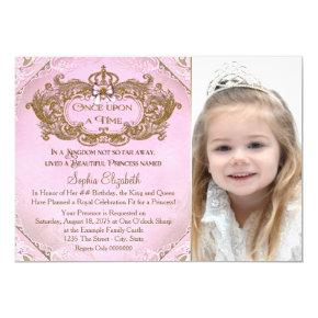 Once Upon a Time Princess Photo Birthday Party Invitations