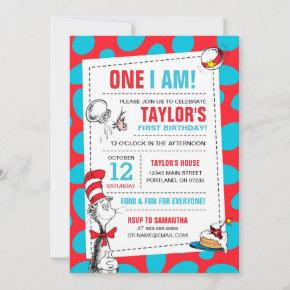One I Am | The Cat in the Hat Birthday Invitation