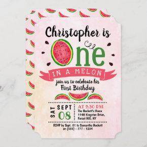 One In A Melon 1st Birthday