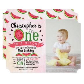 One In A Melon Photo 1st Birthday