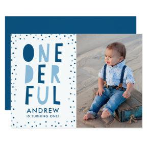 Onederful | Photo First Birthday Party Invitation