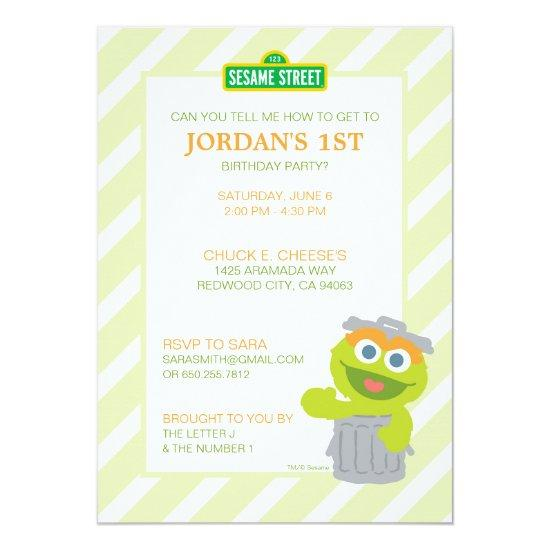 Oscar The Grouch Baby Birthday Candied Clouds