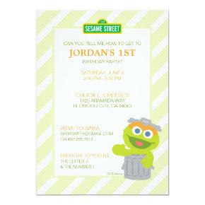 Oscar the Grouch Baby Birthday Invitation
