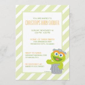 Oscar the Grouch Baby Shower Invite