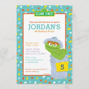 Oscar the Grouch Birthday Invitation