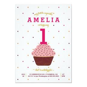 Our Little Cupcake Birthday Invitations