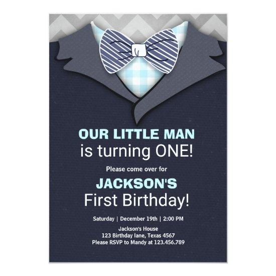 Our little man birthday invitation boy bow tie candied clouds our little man birthday invitation boy bow tie filmwisefo
