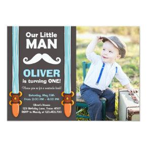 Our Little Man Birthday Invitations Boy Bow Tie