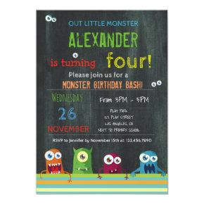 OUR LITTLE MONSTER BIRTHDAY PARTY | KIDS BIRTHDAY Invitations