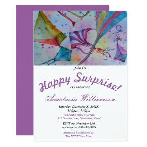 OUTDOOR KITE FLYING SURPRISE PARTY INVITATION